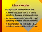 library modules