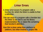 linker errors