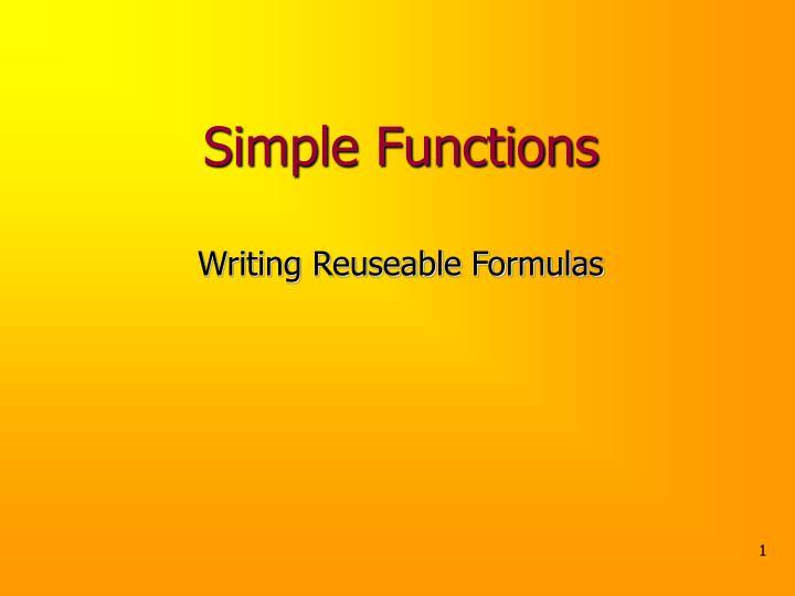 simple functions n.