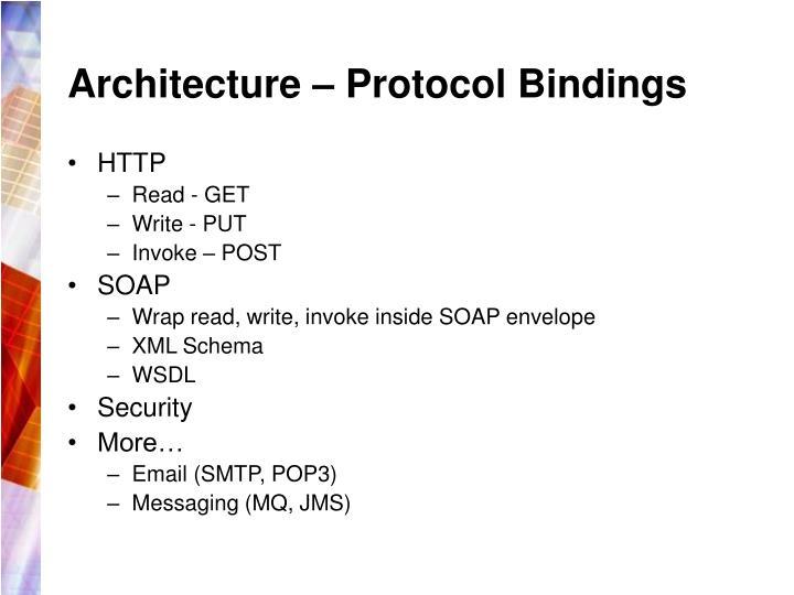 Architecture – Protocol Bindings