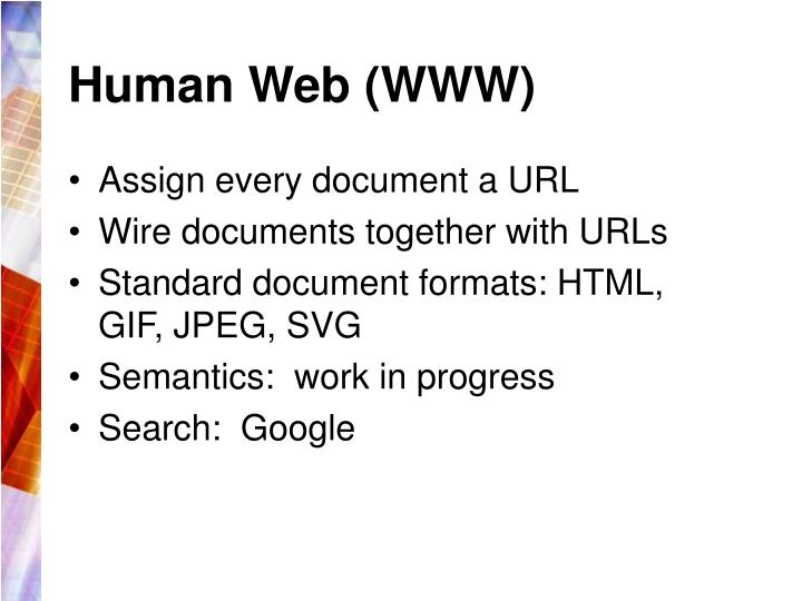 Human Web (WWW)
