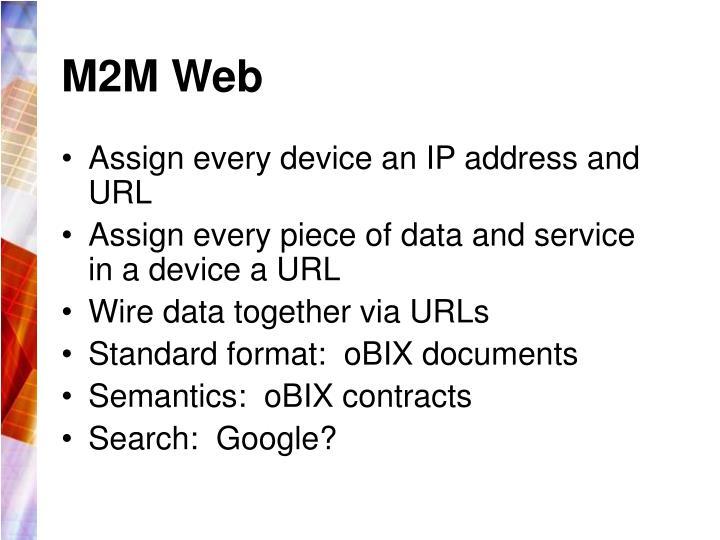 M2M Web