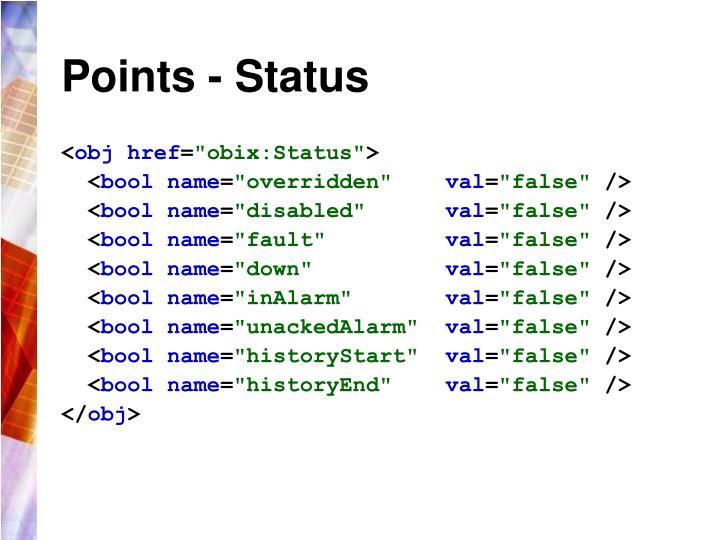 Points - Status