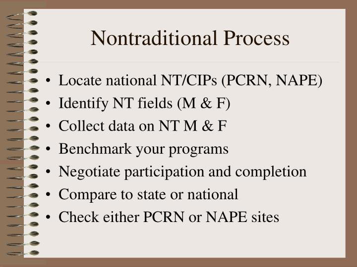 Nontraditional Process
