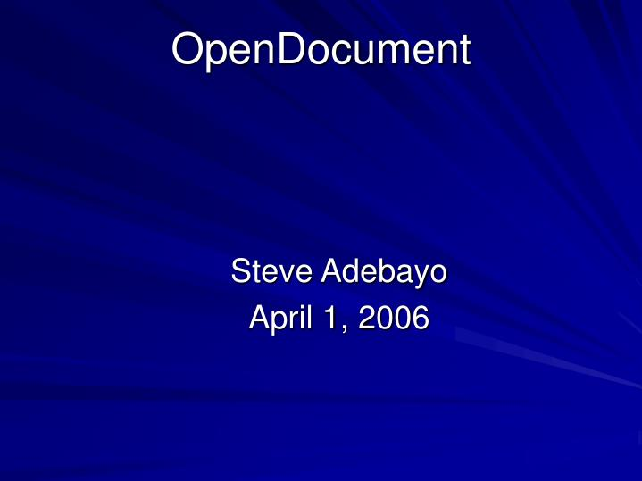 Opendocument