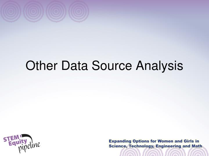 Other Data Source Analysis