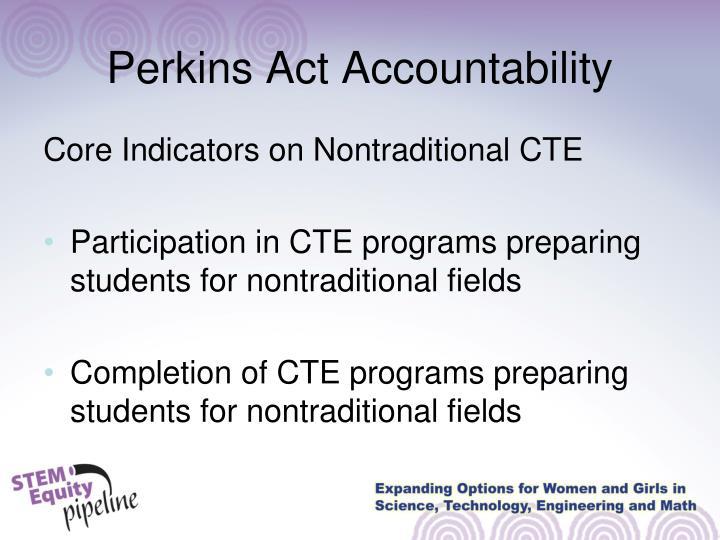 Perkins Act Accountability