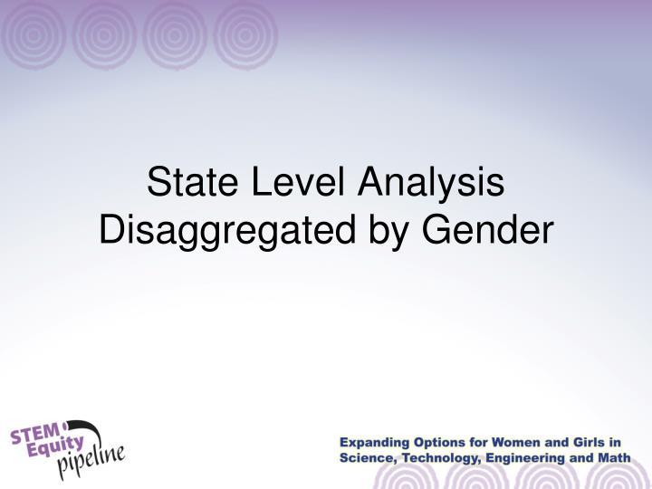 State Level Analysis