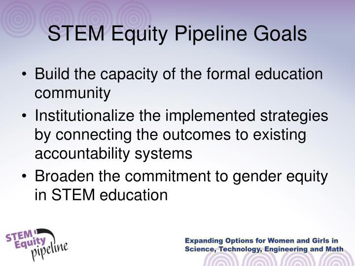 Stem equity pipeline goals