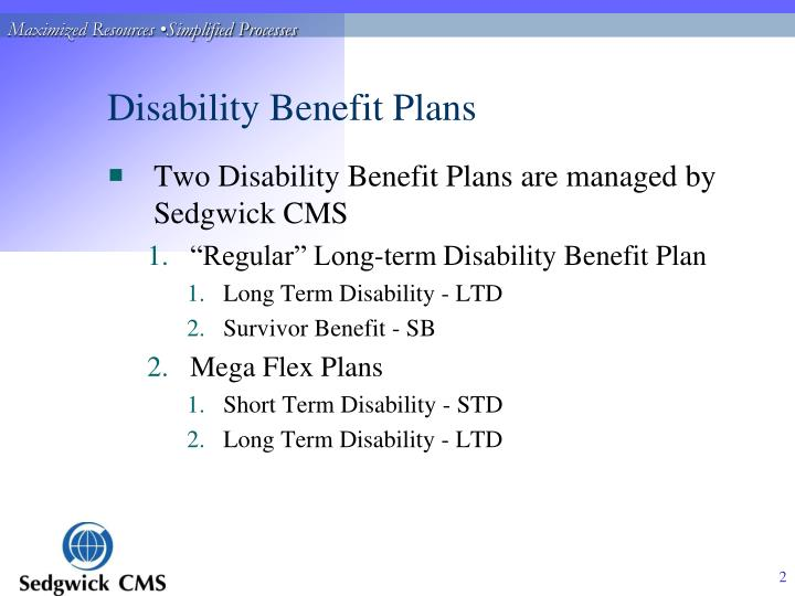 Disability benefit plans