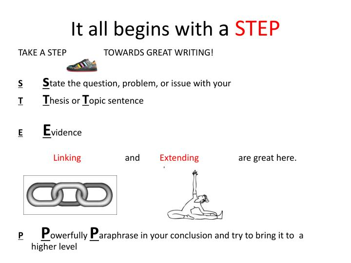 It all begins with a step