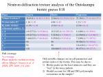 neutron diffraction texture analysis of the outokumpu biotite gneiss 8185