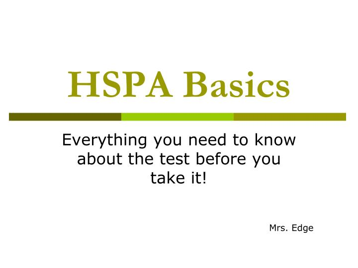 hspa expository essay ppt