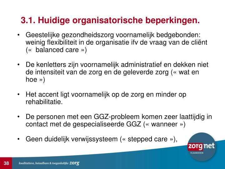 3.1. Huidige organisatorische beperkingen.