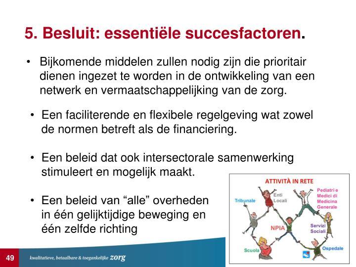 5. Besluit: essentiële succesfactoren