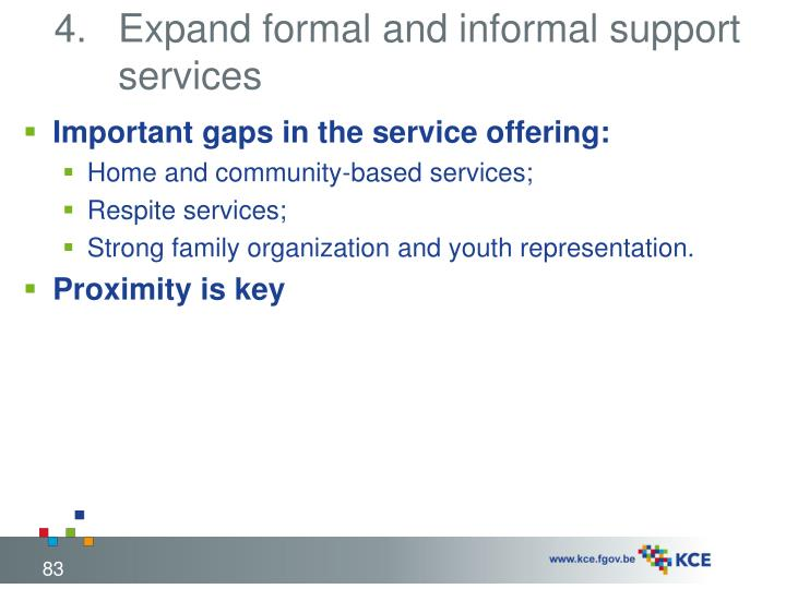 Expand formal and informal support services