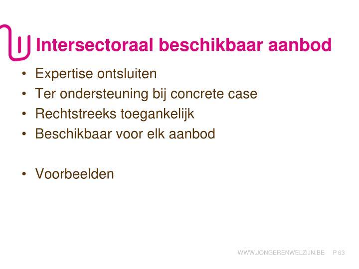 Intersectoraal beschikbaar aanbod