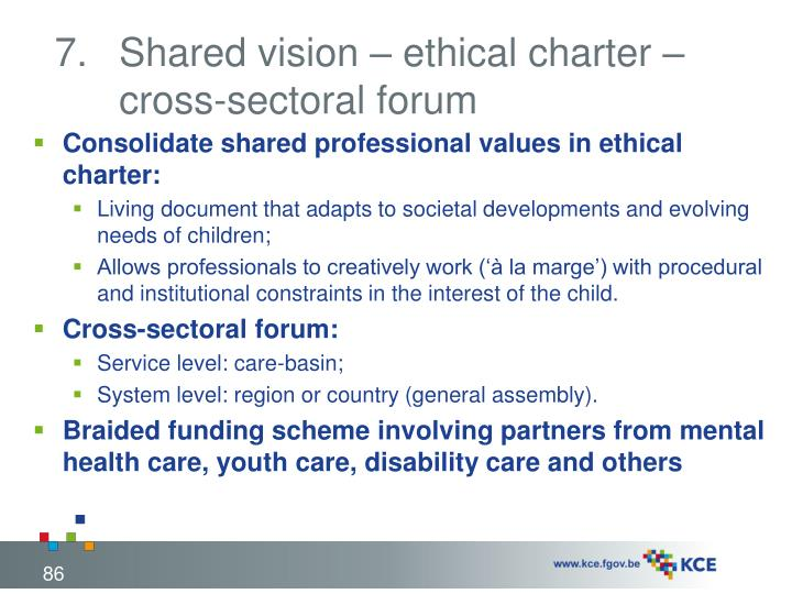 Shared vision – ethical charter – cross-sectoral forum