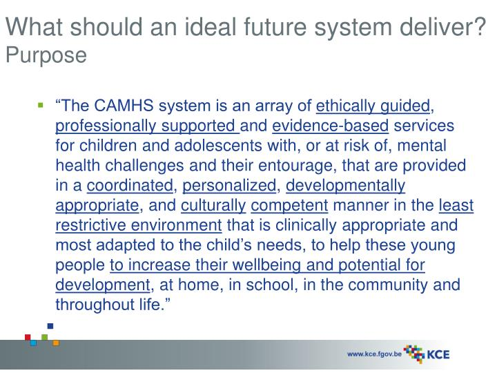 What should an ideal future system deliver?