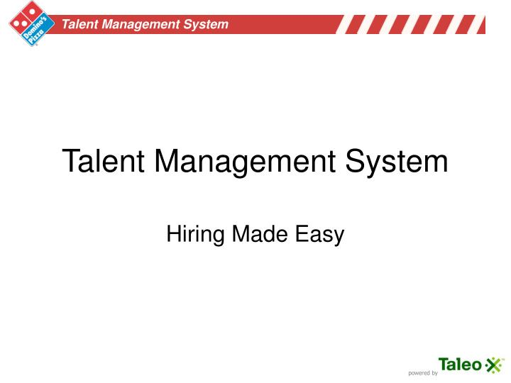 talent management system n.