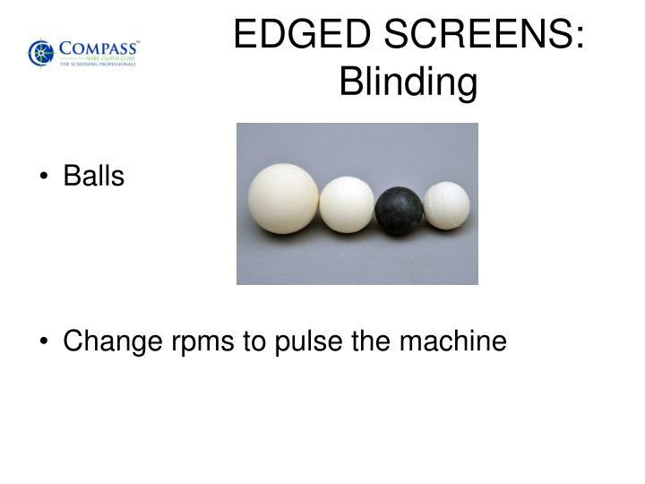 EDGED SCREENS: