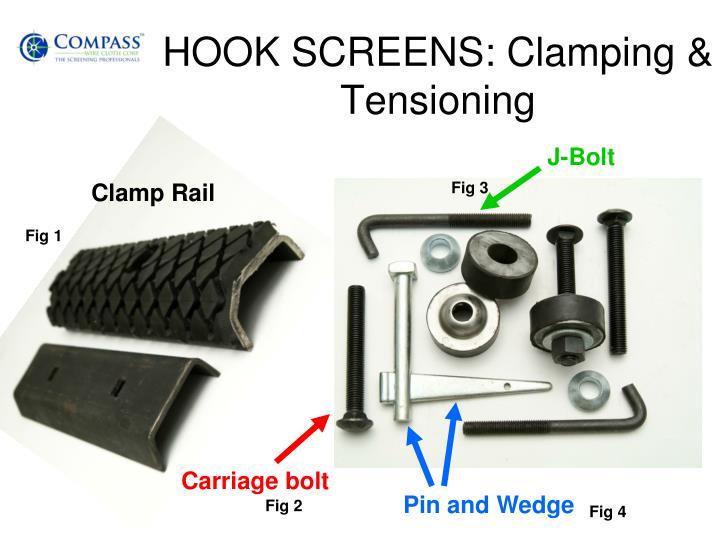 HOOK SCREENS: Clamping & Tensioning