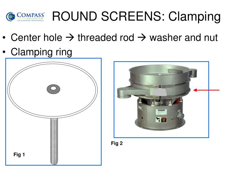 ROUND SCREENS: Clamping