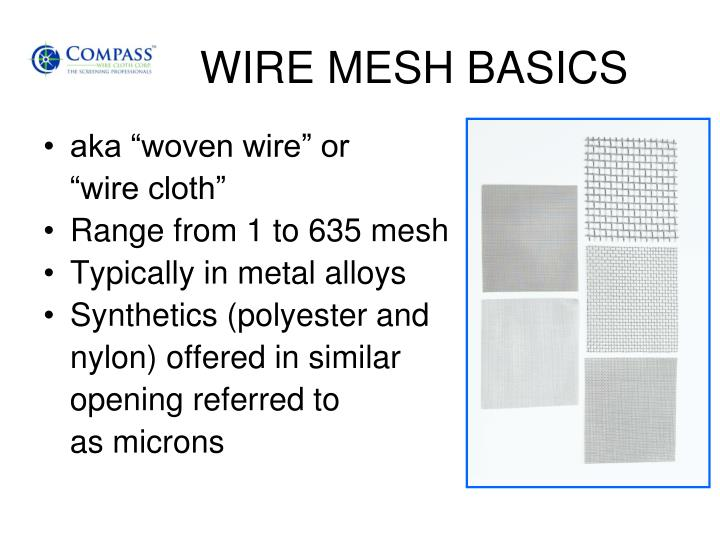 Wire mesh basics
