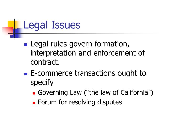Legal issues1