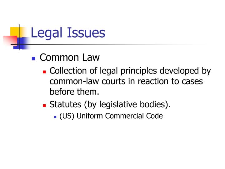 Legal issues2