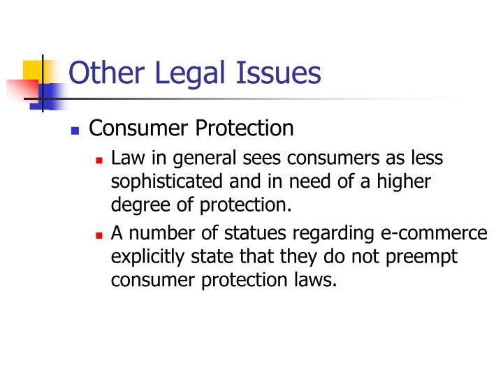 Other Legal Issues