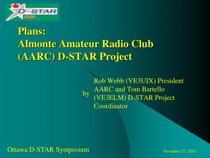 plans almonte amateur radio club aarc d star project n.