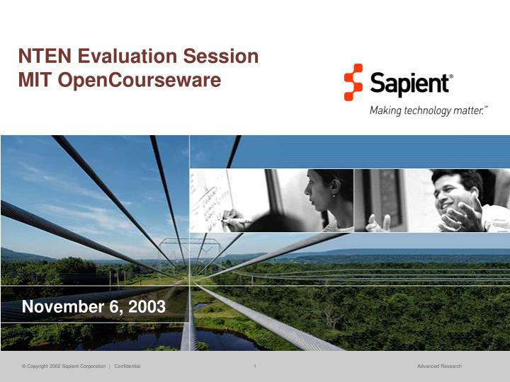 nten evaluation session mit opencourseware n.