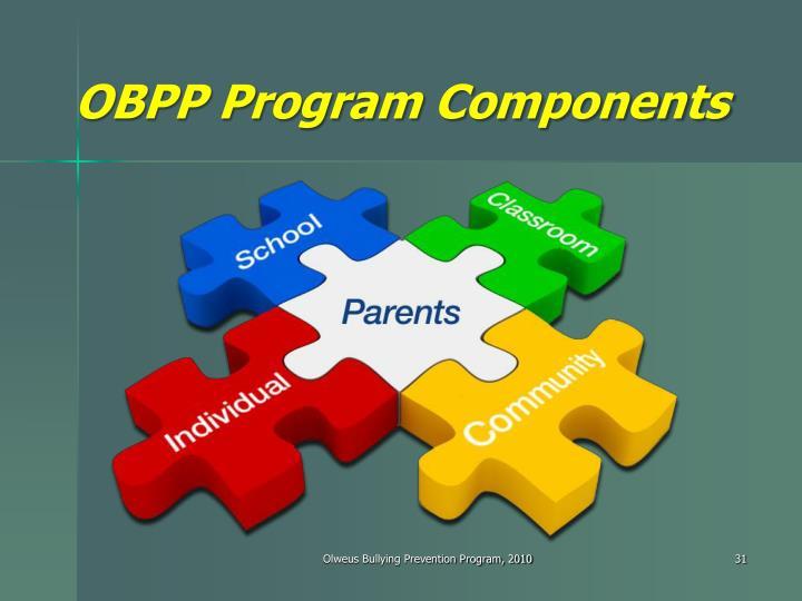 OBPP Program Components