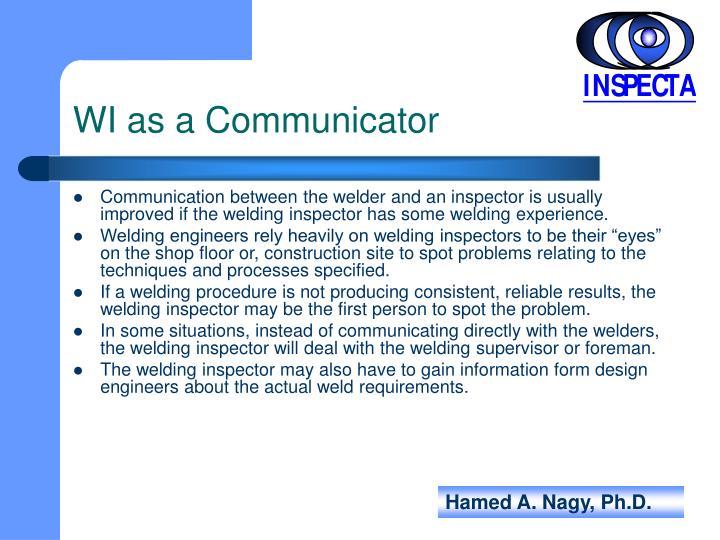 WI as a Communicator