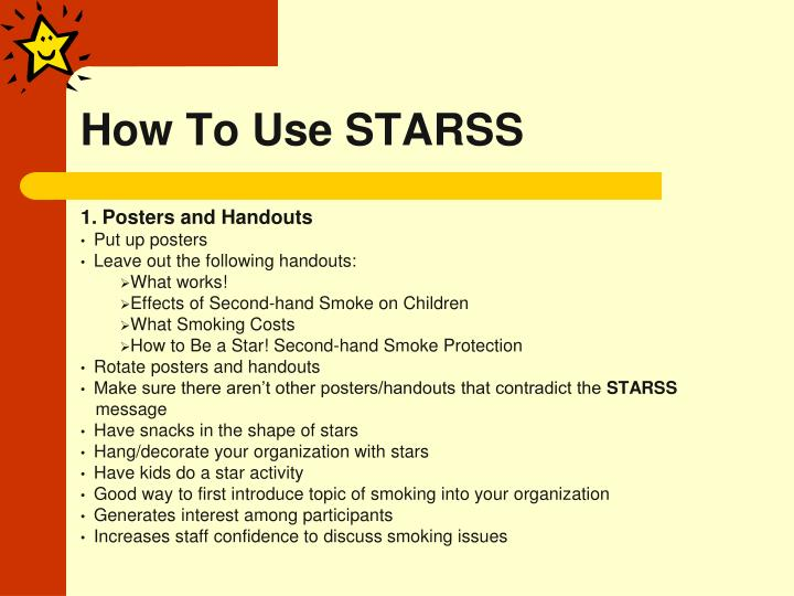 How To Use STARSS