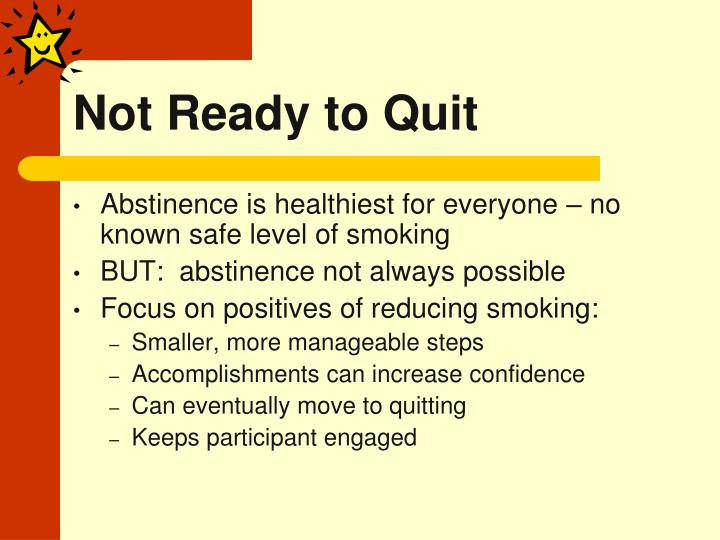 Not ready to quit
