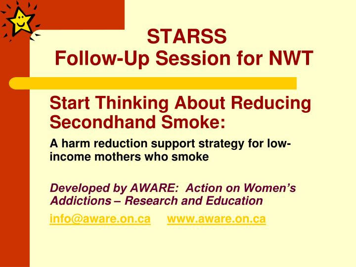 Starss follow up session for nwt