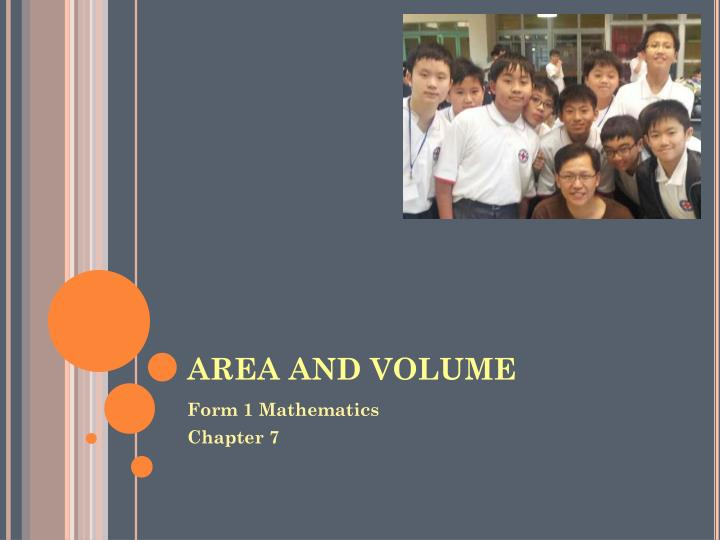 Area and volume