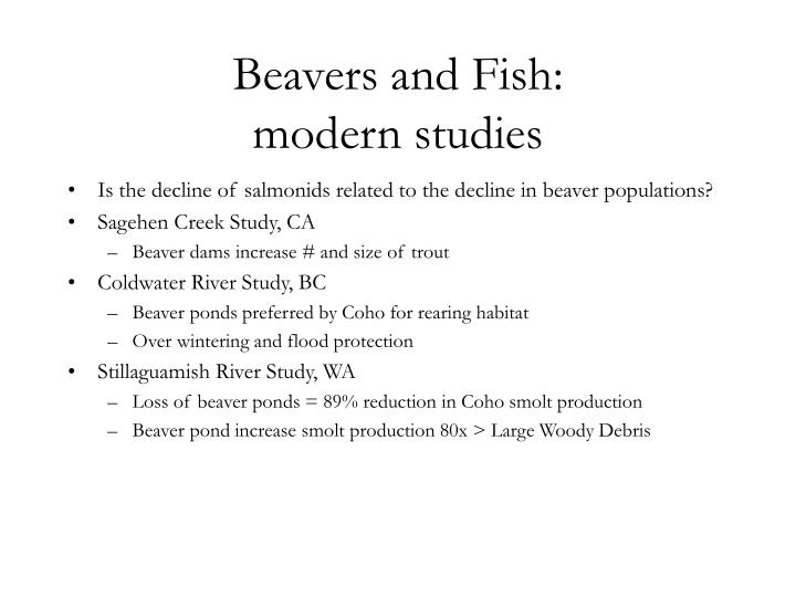 Beavers and Fish: