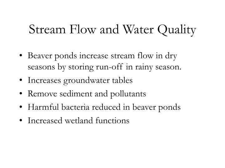 Stream Flow and Water Quality