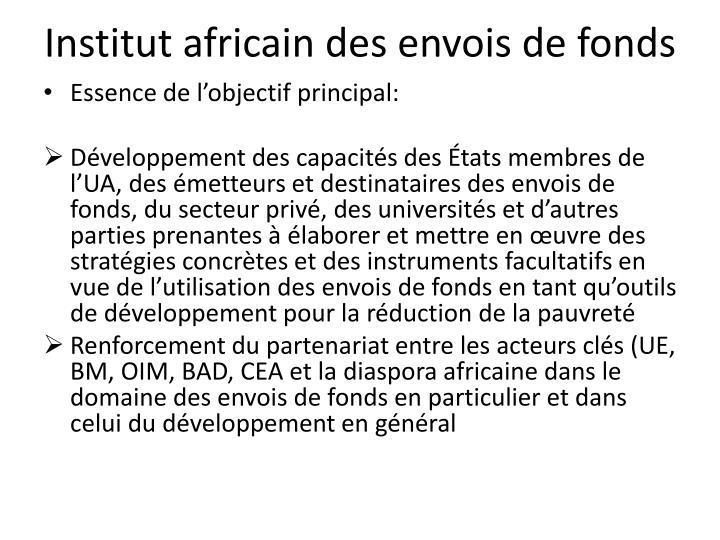 Institut africain des envois de fonds