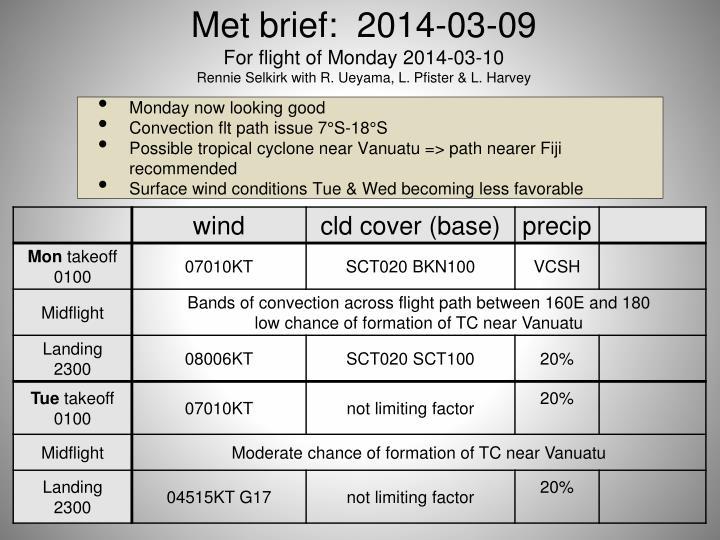 Met brief:  2014-03-09