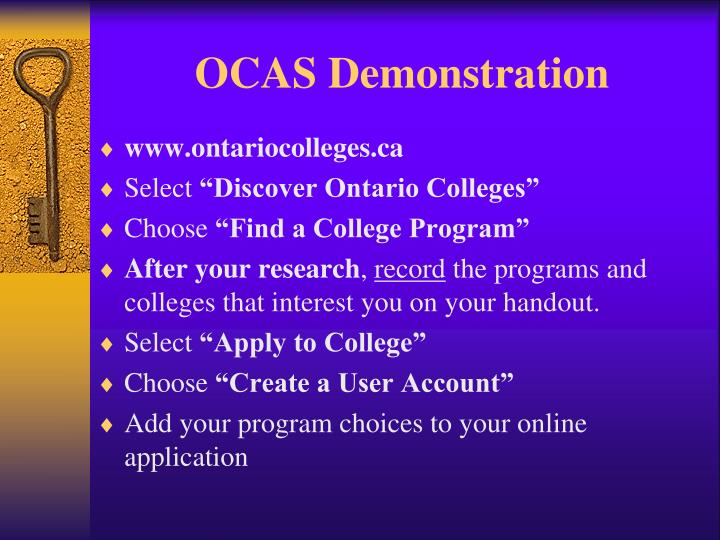 OCAS Demonstration