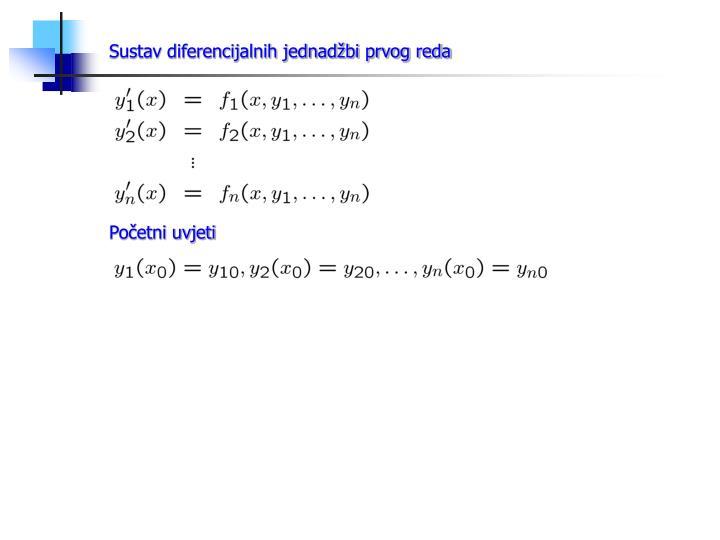 Sustav diferencijalnih jednadžbi prvog reda