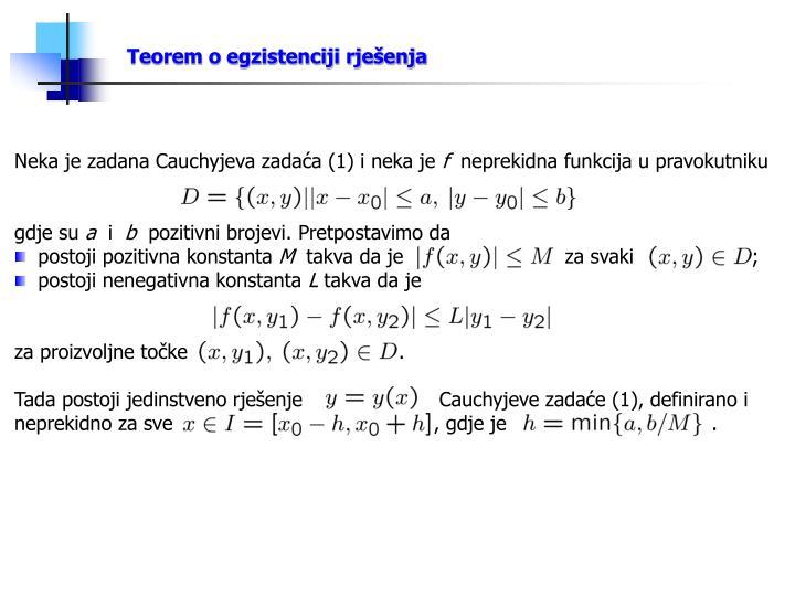 Teorem o egzistenciji rješenja