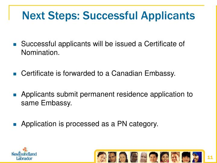 Next Steps: Successful Applicants