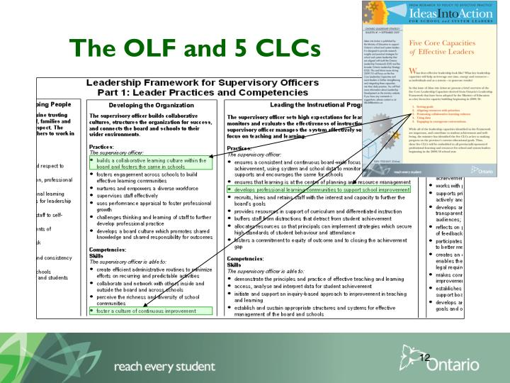 The OLF and 5 CLCs