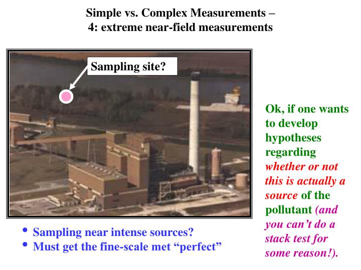Simple vs. Complex Measurements –