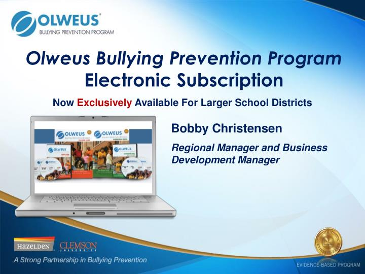 olweus bullying prevention program electronic subscription n.